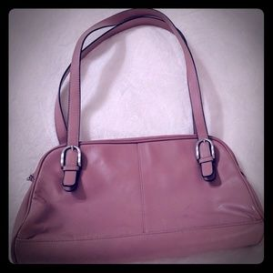 Worthington mauve leather bag